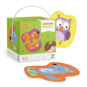 Dodo - Moje Pierwsze Puzzle 6w1 Leśne Zwierzęta 2-3-4 el. 300195