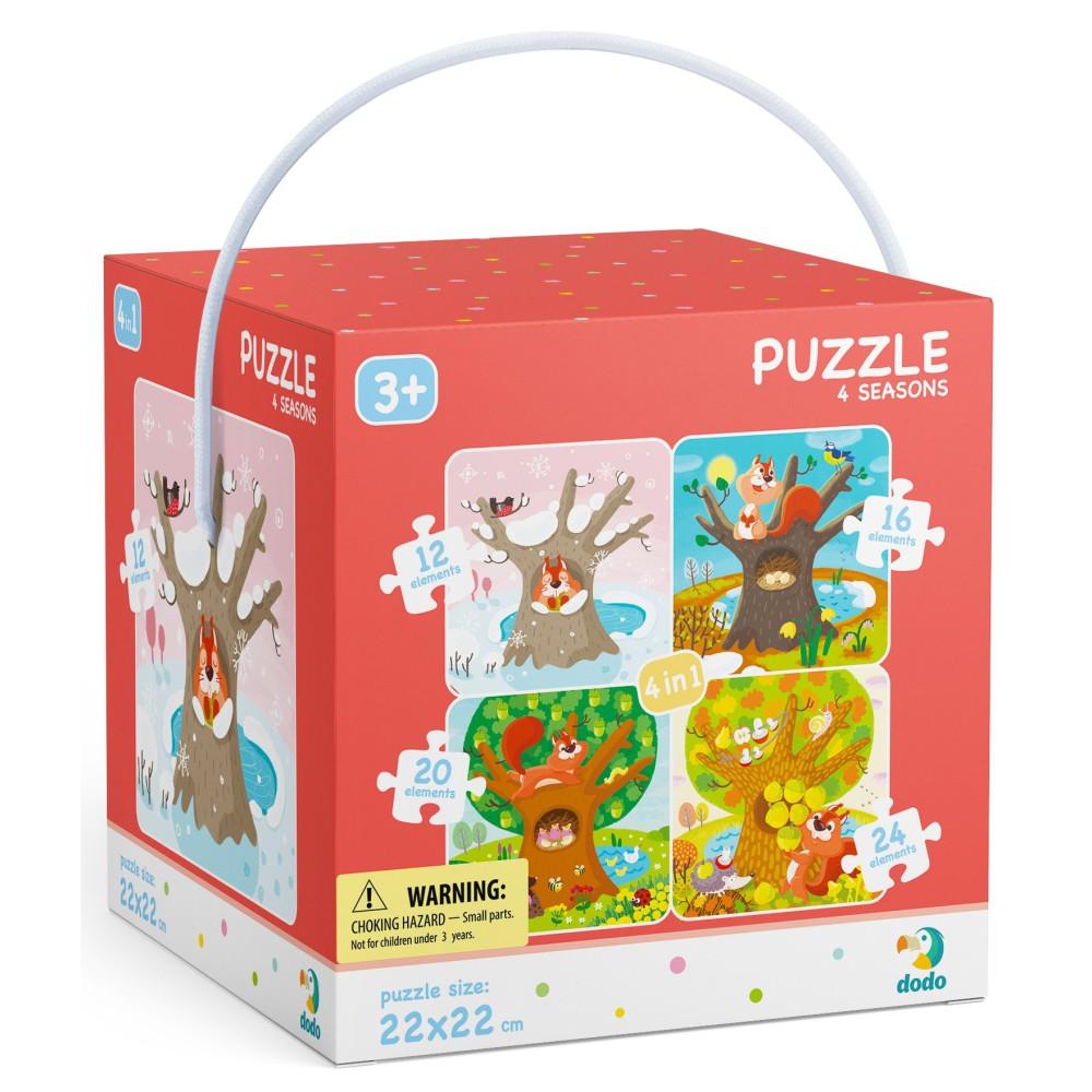 Dodo - Puzzle 4w1 Pory Roku 12-16-20-24 el. 300125