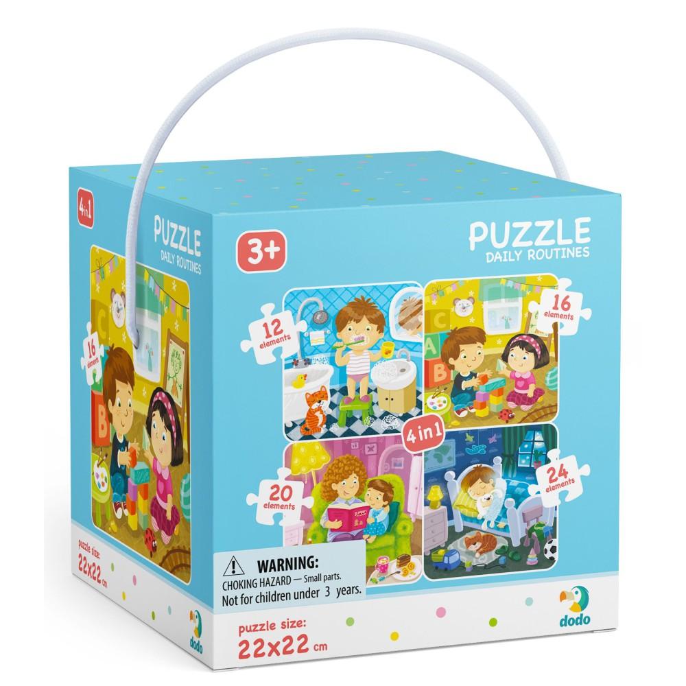 Dodo - Puzzle 4w1 Mój Dzień 12-16-20-24 el. 300130