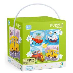 Dodo - Puzzle 4w1 Transport 12-16-20-24 el. 300132
