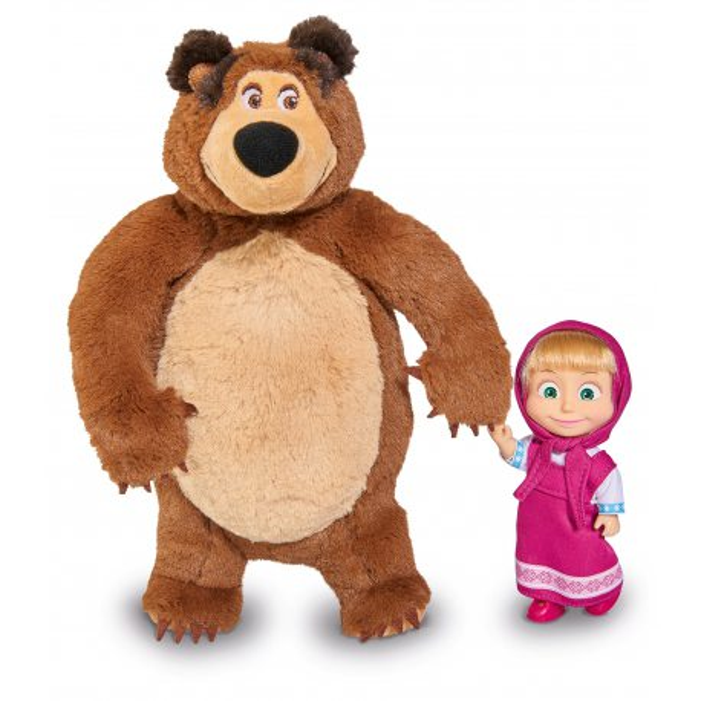 Simba Masza i Niedźwiedź - Zestaw Pluszowy Niedźwiedź Misza i Lalka Masza 9301072