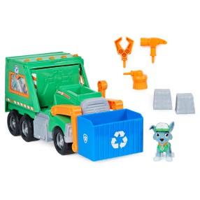 Psi Patrol - Ciężarówka do recyklingu Rocky'ego Śmieciarka + Figurka 6060259