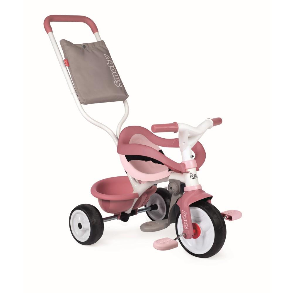 Smoby - Rowerek trójkołowy Be Move Komfort Różowy 740415