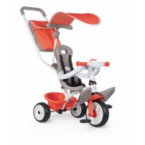 Smoby - Rowerek trójkołowy Baby Balade 3w1 czerwony 741105