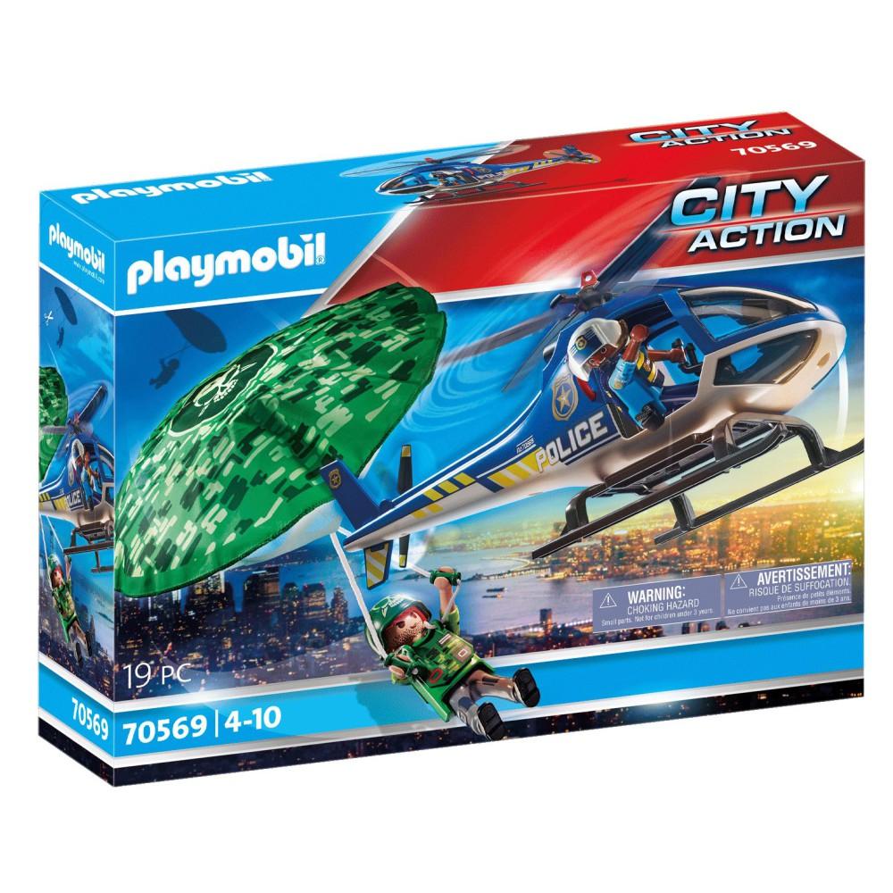Playmobil - Policyjny śmigłowiec Ucieczka ze spadochronem 70569