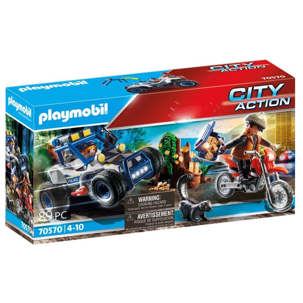 Playmobil - Policyjny samochód terenowy: Pościg za złodziejem skarbu 70570