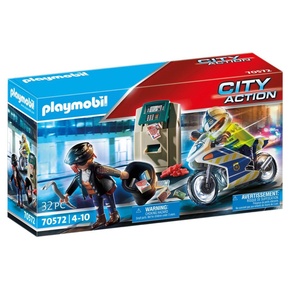 Playmobil - Policyjny motor: Pościg za przestępcą 70572