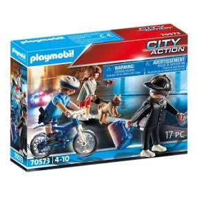 Playmobil - Policyjny rower: Pościg za kieszonkowcem 70573
