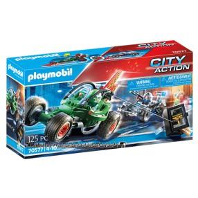 Playmobil - Policyjny gokart: Pościg za włamywaczem do sejfu 70577