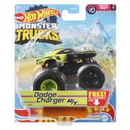 Hot Wheels Monster Trucks - Metalowy pojazd Dodge Charger R/T GWJ98