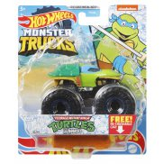 Hot Wheels Monster Trucks - Metalowy pojazd Turtles Leonardo GWK20