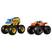 Hot Wheels Monster Trucks - Metalowe Pojazdy Dwupak Monster Portions vs Tuong ot Sriracha GTJ49
