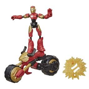 Hasbro Avengers Bend and Flex - Pojazd Motocykl 2w1 + Figurka Iron Man 15 cm F0244