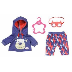 BABY born - Ubranko superbohatera dla lalki 43 cm Bluza, Spodnie i Maska 830819