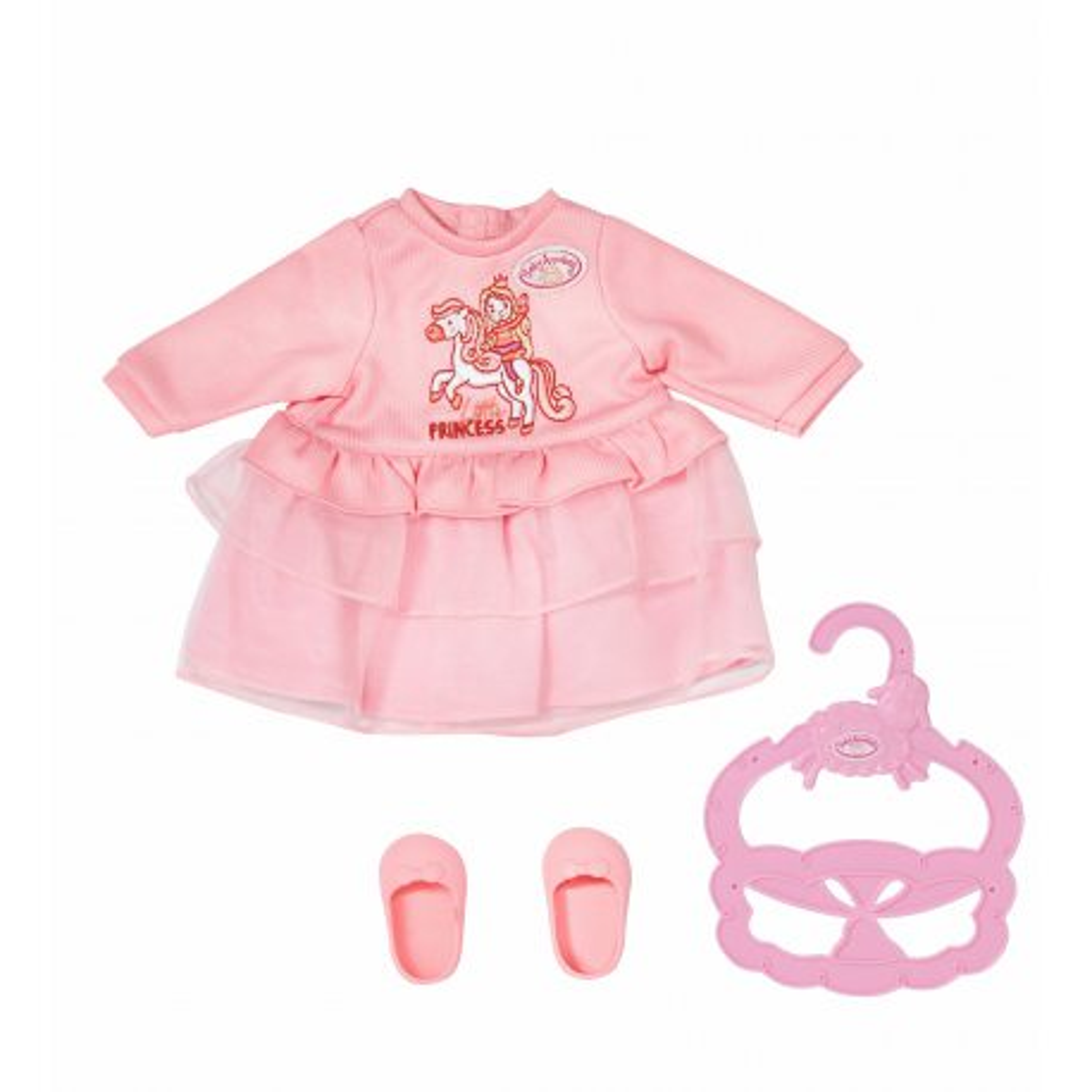 Baby Annabell - Ubranko Różowa Sukienka Małej Księżniczki dla lalki 36 cm 704110