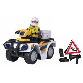 Simba - Strażak Sam Quad policyjny z figurką Malcolm 9251093