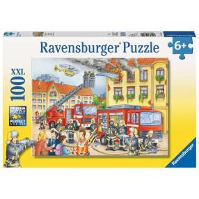 Ravensburger - Puzzle XXL Straż pożarna 100 elem. 108220