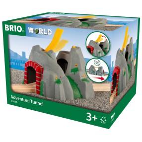 Brio Kolejka - Tunel z mostem i dźwiękami 33481