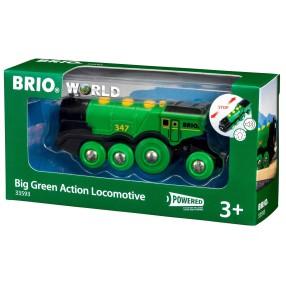 Brio Kolejka - Klasyczna zielona lokomotywa 33593