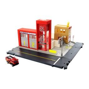 Matchbox Action Drivers - Prawdziwe Przygody Zestaw Remiza strażacka Światło Dźwięk HBD76