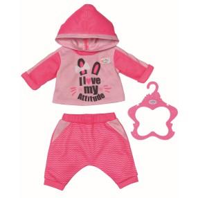 BABY born - Ubranko Dres do joggingu dla lalki 43 cm Różowy 830109