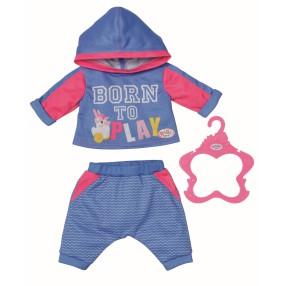 BABY born - Ubranko Dres do joggingu dla lalki 43 cm Niebieski 830109