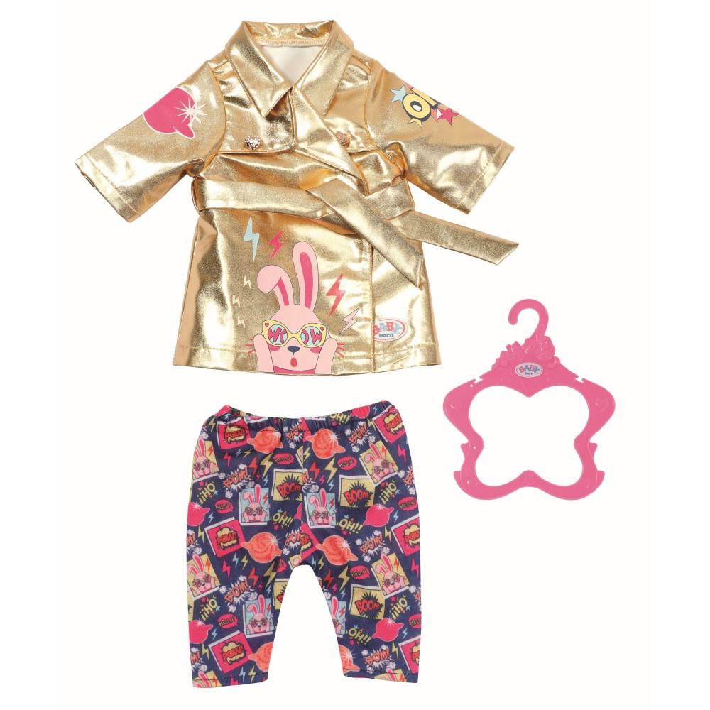BABY born - Ubranko Urodzinowy Płaszcz i spodnie dla lalki 43 cm 830802