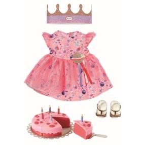 BABY born - Ubranko Sukienka dla lalki 43 cm Zestaw Urodzinowy 830789