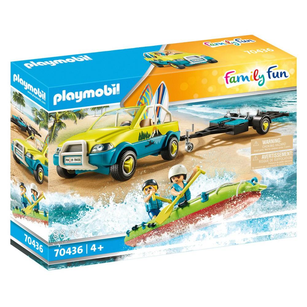 Playmobil - Auto z przyczepką na kanu 70436