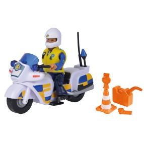 Simba - Strażak Sam Motor policyjny z figurką Malcolm 9251092