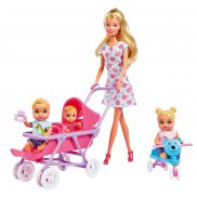 Simba Steffi LOVE - Lalka Steffi w pokoju dziecięcym Wózek Łóżeczko + Akcesoria 5736350
