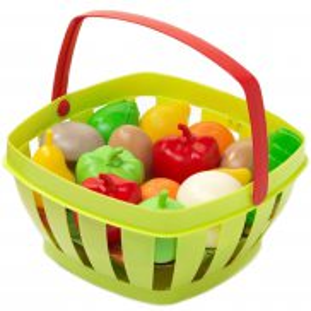 Ecoiffier - Koszyk z warzywami i owocami Zielony 0966