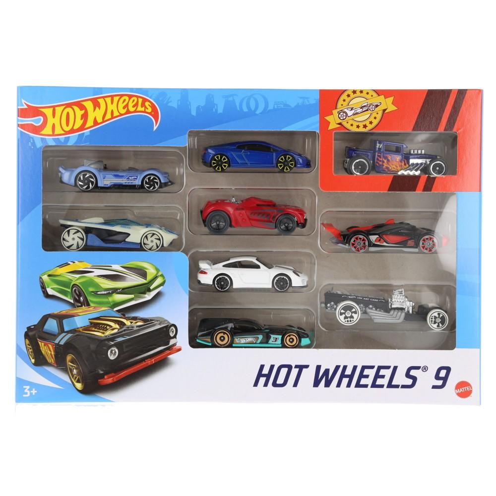 Hot Wheels - Małe samochodziki Dziewięciopak 9-pak X6999 11
