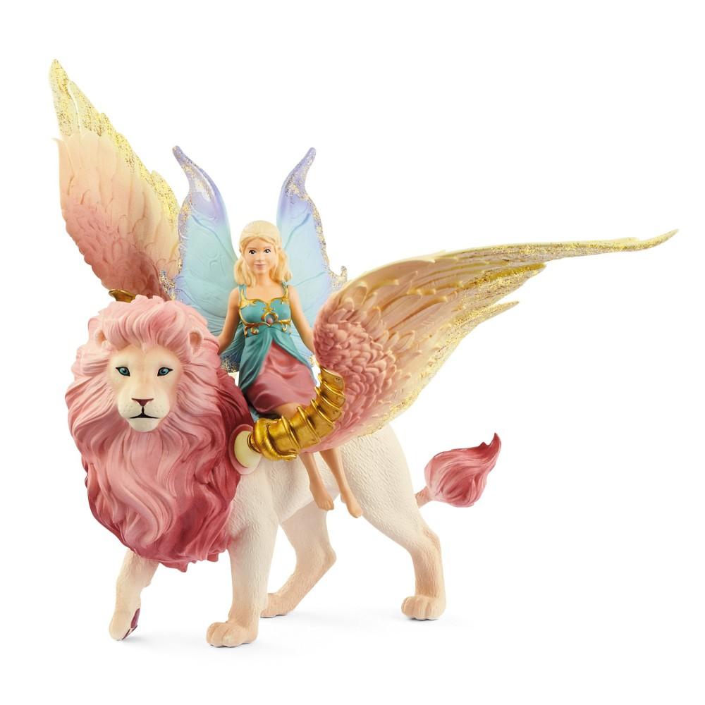 Schleich Świat Elfów Bayala - Elf na skrzydlatym Lwie 70714