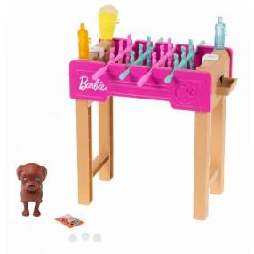 Barbie - Minizestaw Świat Barbie Figurka Pieska i Stół do piłkarzyków + Akcesoria GRG77