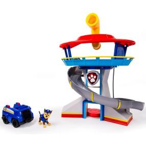 Psi Patrol - Baza Psiego Patrolu z dźwiękiem Kwatera główna + Figurka Chase z pojazdem 20129291