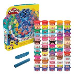 Play-Doh - Ciastolina Tuby uzupełniające 65-pak Zestaw na 65 lecie F1528