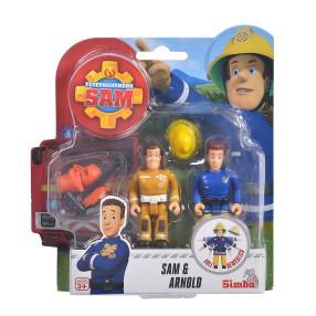 Simba - Strażak Sam 2 Figurki z akcesoriami Sam i Arnold 9251026 A