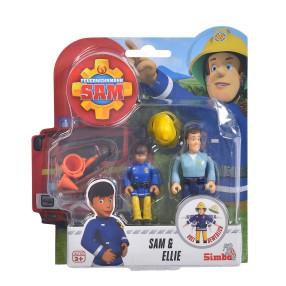 Simba - Strażak Sam 2 Figurki z akcesoriami Sam i Ellie 9251026 C