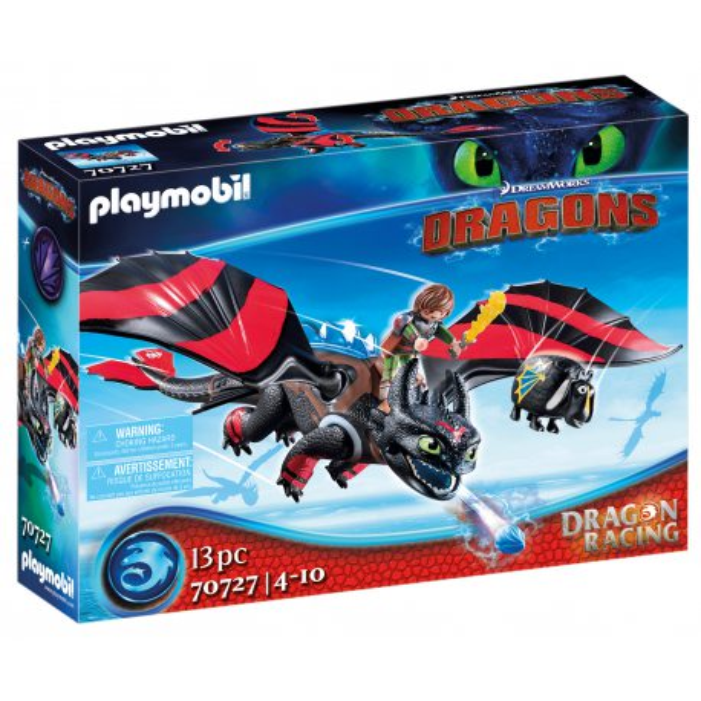 Playmobil - Dragon Racing: Szczerbatek i Czkawka 70727