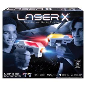 Laser X - Mikroblaster Pistolet na podczerwień Zestaw Podwójny 2-pak LAS87906