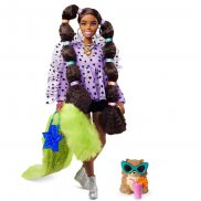 Barbie Extra - Moda Lalka i Zwierzątko + Akcesoria Nr 7 GXF10
