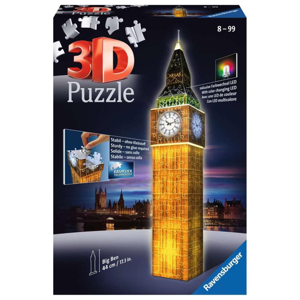 Ravensburger - Puzzle 3D Big Ben Nocą 125883