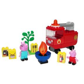BIG Bloxx Świnka Peppa - Klocki Zestaw Wóz strażacki Świnki Peppy + 2 Figurki 57146