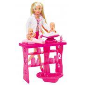 Simba Steffi LOVE - Lalka Steffi Pediatra z niemowlakami + Akcesoria 5732608