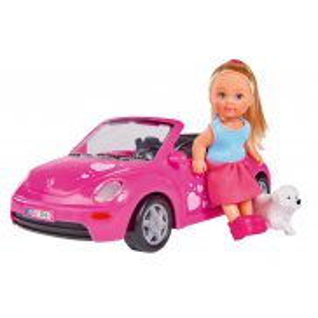 Simba Evi LOVE - Lalka Evi w kabriolecie New Beetle + Figurka Pieska 5731539