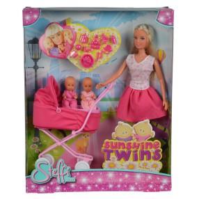 Simba Steffi LOVE - Lalka Steffi z głębokim wózkiem Różowy 5738060 01