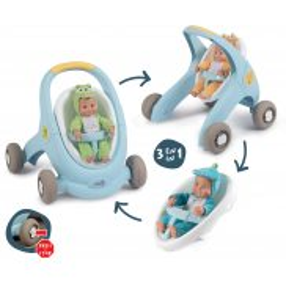 Smoby MiniKiss - Chodzik wózek dla lalki Croc 3w1 210207