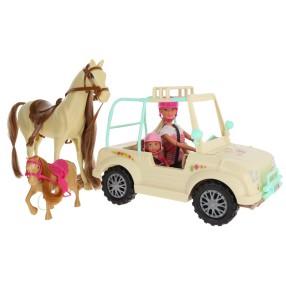 Simba Steffi LOVE - Lalka Steffi i Evi z koniem i kucykiem Konna przygoda 4663354