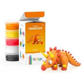 Hey Clay - Masa plastyczna Triceratops HCLMD003